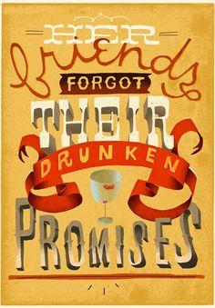 Her Friends Forgot Their Drunken Promises