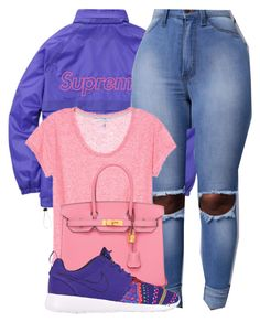 """""""SUPREME"""" by alexanderbianca ❤ liked on Polyvore featuring Hermès and NIKE"""