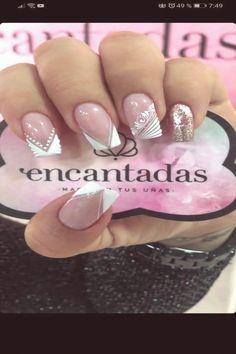 - Best ideas for decoration and makeup - French Nail Designs, Fall Nail Designs, Bling Nails, Stiletto Nails, Nail Desighns, November Nails, Chevron Nails, Luxury Nails, Diamond Nails