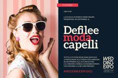Defilee Moda Capelli - Le acconciature per la sposa 2016 a cura di U.N.A.SM. Scuola per Parrucchieri. Sabato 03 Ottobre ore 17.00