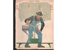 "April 14, 1910 Original Life Magazine Cover ""Hope Springs Eternal"" artist Robert J Wildhack (474) on Etsy, $16.00"