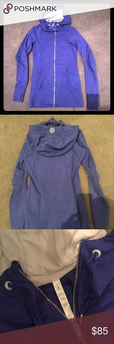 Lululemon jacket Long lululemon hoodie in a gorgeous purple color. Size 6. Only worn 2-3 times, excellent condition. lululemon athletica Tops Sweatshirts & Hoodies