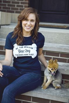 Be the Person your Dog thinks you Are Available in S-M-L-XL-2XL Free Shipping on Etsy, $20.00