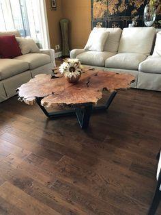 Gorgeous Live Edge Maple Burl Coffee Table Wood Table Design