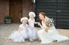 Flower Girls Tutus Copper Dusky Lilac Grey Rustic Barn Wedding http://www.kayleighpope.co.uk/