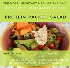 Post Workout Meal: Protein Packed Salad!