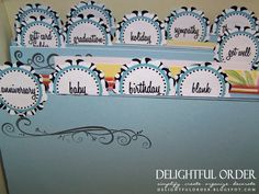 MY DREAM is to be this ORGANIZED!!!  LOVE the labels.  Greeting Card Box Labels  PDF Printable File by DelightfulOrder,