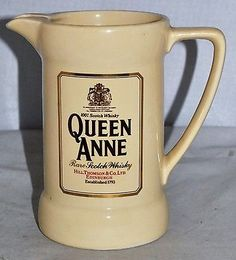 QUEEN ANNE Rare Scotch Whisky Water Jug by Wade pdm, in Excellent Condition