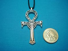 Gothic Ankh Small Handcast in Silver Pewter by CenterOfTheCircle