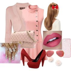 pink by noemilamgrbff on Polyvore featuring Phase Eight, Dolce Vita, Chanel, Ray-Ban and Topshop