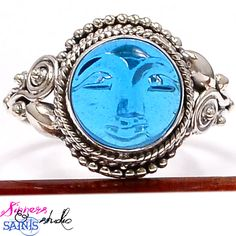 SZ 8 Goodnight Moon SS Genuine Blue Topaz Ring!. Starting at $20 on Tophatter.com!
