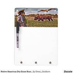 Native American Dry Erase Board with Key Holder