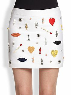 Stella McCartney - Embellished-Front Mini Skirt - Saks.com