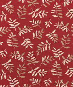 P/K Lifestyles Native Leaves Red Fabric - $9.8   onlinefabricstore.net