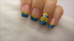 So Awesome!! Despicable Me Nails! :D #CuteNails