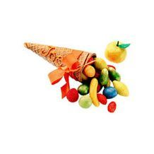 Sugar-Cone Cornucopia Place Card Table Decorations