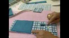 passo a passo carteira e porta celular com lingueta em tecido - YouTube