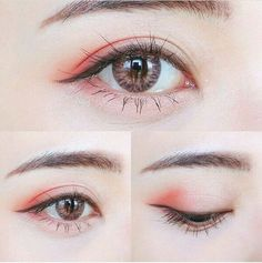 Super makeup korean style eyeliner make up ideas Korean Makeup Tips, Korean Makeup Look, Korean Makeup Tutorials, Asian Makeup, Korean Beauty, Make Up Tutorial Contouring, Makeup Tutorial Eyeliner, Makeup Eyeshadow, Eyeliner Ideas