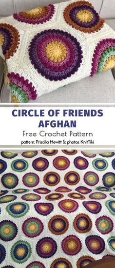 afghan patterns Explore today's collection of Amazing Hexagon Afghans and grab these free patterns! Maybe your next project is here? Blankets made with crocheted blocks are perfect for Crochet Hexagon Blanket, Crochet Ripple, Manta Crochet, Afghan Crochet Patterns, Crochet Blankets, Diy Crochet Afghan, Crochet Circle Pattern, Ripple Afghan, Hexagon Pattern