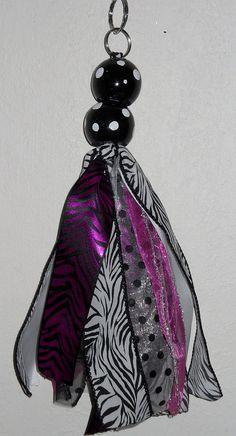 Items similar to Custom Polka Dot Wooden Ball Zebra Ribbon Keychain on Etsy Keychain Ideas, Diy Keychain, Yarn Crafts, Sewing Crafts, Duck Tape Crafts, Tassel Keychain, How To Make Ribbon, Team Gifts, Pom Poms
