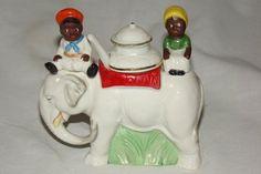 Vintage Black Americana Elephant Salt Pepper Condiment sold 265.00
