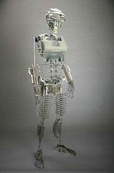Human sculpture out of typewriters.  All 20th century writers will relate.  HT Leora Kornfeld @LK617