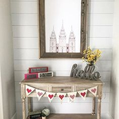 Shiplap, barnwood and a gorgeous @brittneygurrphoto temple!  yes please!! ❤️❤️this is our 32X44 size with our light wood frame and is available on our website under our temple artwork category thanks for the pic @everyshine     #Regram via @whimzicalwoods