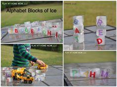 Alphabet ice blocks