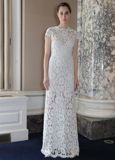 Christos Costarellos's Spring 2016 Wedding Dresses Are Literally Sheer Brilliance | TheKnot.com (Shown Minus The Silk Tulle Overskirt)