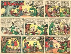 """""""Pogo"""" parody, beautifully drawn by Wally Wood for Mad magazine...(click to enlarge)"""
