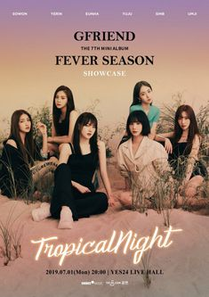 "GFriend to hold a comeback showcase at the day of ""Fever Season"" release at Live Hall Gfriend Yuju, Gfriend Sowon, South Korean Girls, Korean Girl Groups, Kpop Posters, Summer Rain, G Friend, Daughter Of God, The Wiz"
