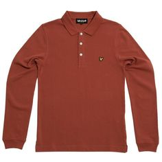Lyle & Scott Long Sleeve Pique Polo (Renaissance Red)