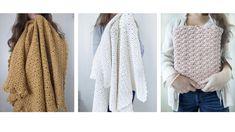 The Blanket Shrug - Free Crochet Pattern - Jewels and Jones Crochet Shrug Pattern Free, Poncho Knitting Patterns, Knitted Poncho, Crochet Cardigan, Crochet Patterns, Crochet Sweaters, Cute Crochet, Easy Crochet, Knit Crochet