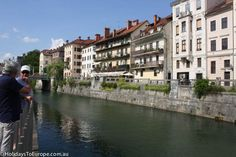The Ljubljanica River flows through the city. River cruises give tourists a different view of Ljubljana.