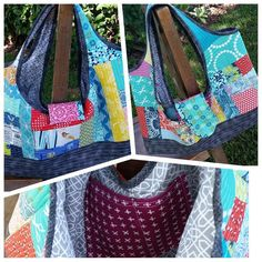 32580b721297 Quilt as you go patchwork bags. Video class shows how to sew cute patchwork  bags including the tinker tote bag and other variations.