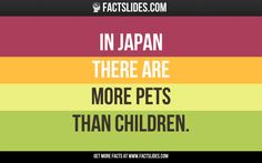 In Japan, there are more pets than there are children under 15.