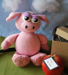 Priscilla the Unimpressed Pig PDF Crochet Pattern by WoollyToons, $5.00