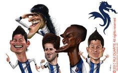 Lucho Gonzales, James, João Moutinho, Jackson Martinez and Iturbe -players FCP by Rui Duarte - Portugal