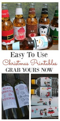 Christmas printable's help organizing gifts and parties super easy. Looking for something for the kids or the adults, printable's will come to your aid. Simply download and create your chosen gift or decoration. So many printable's to choose from!