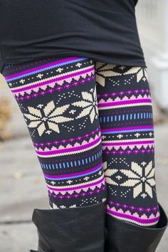 Leggings | White Plum