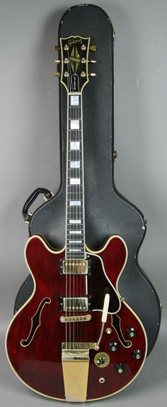 1976 Gibson ES 355 TD Semi Hollow Electric Guitar Cherry Red Finish