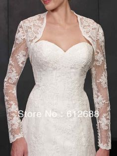 wedding dress long sleeves lace jacket - Google Search