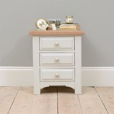 Clermont Grey Painted 3 Drawer Bedside 922.407 Quality wooden furniture at great low prices from PineSolutions.co.uk. Get Free Delivery and Exchanges on all orders. http://www.MightGet.com/january-2017-11/clermont-grey-painted-3-drawer-bedside-922-407.asp