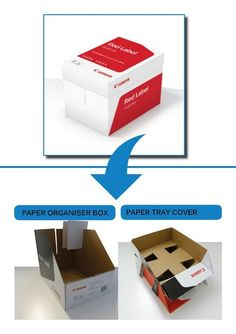 TRANSFORM A4 BOX to PAPER ORGANISER BOX AND TRAY