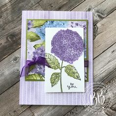 Hydrangea Bloom, Hydrangeas, Free Cards, Hand Stamped Cards, Card Sketches, Creative Cards, Paper Design, Stampin Up Cards, Handmade Crafts