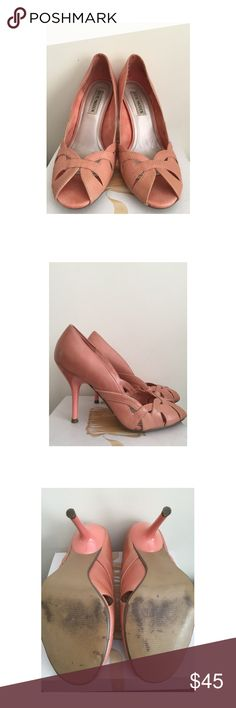 Steve Madden Coral Peach Pink open toe pumps Excellent used condition, worn once indoors. 36/6 Steve Madden Shoes Heels