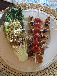 Chicken Caesar Kebabs perfect for all cycles of the 17 Day Diet (and beyond!)