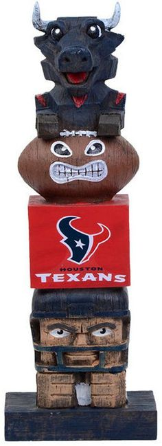Evergreen Houston Texans Tiki Totem