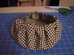 Simplesmente Artesanato: Boina de tecido- passo a passo (DIY)