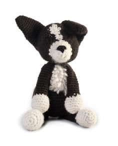 Toft Jed the Border Collie amigurumi crochet kit #crochet #gift #cute #animal #craft